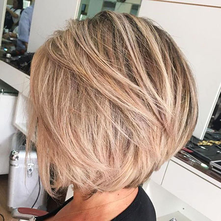 Blonde Ash Bob Messy