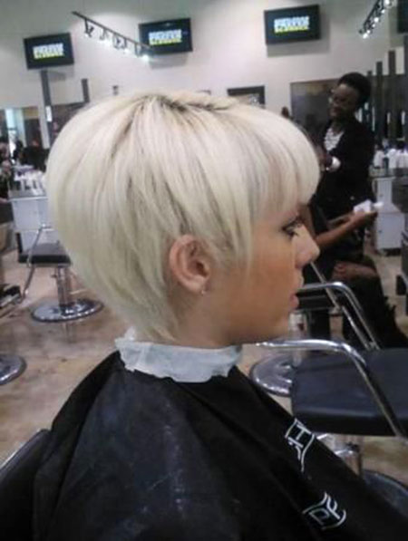 Pixie Blonde Choppy Cut