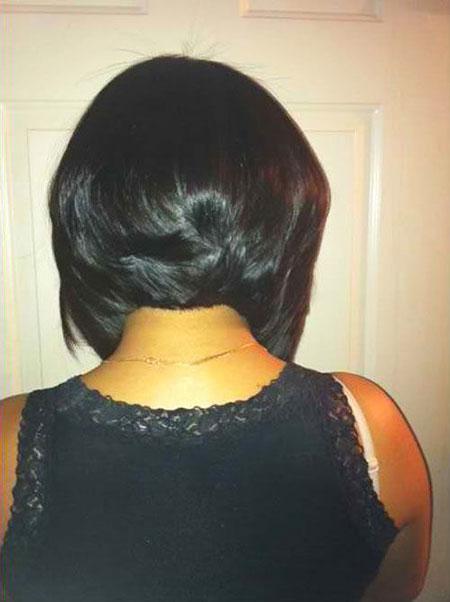 Back View, Bob Black Short Hair