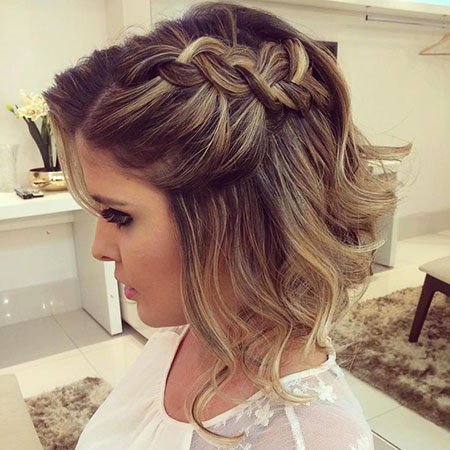 Half Braid, Hair Prom Saç 40