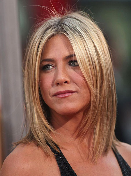 Thin Blonde Lob, Hair Jennifer Aniston Hairtyles