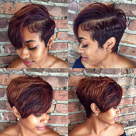 Side Parted Pixie, Pixie Hair Tapered Bangs