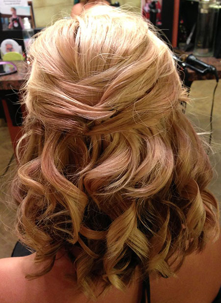 Cute Half Up, Hairtyles Length Wedding Hair