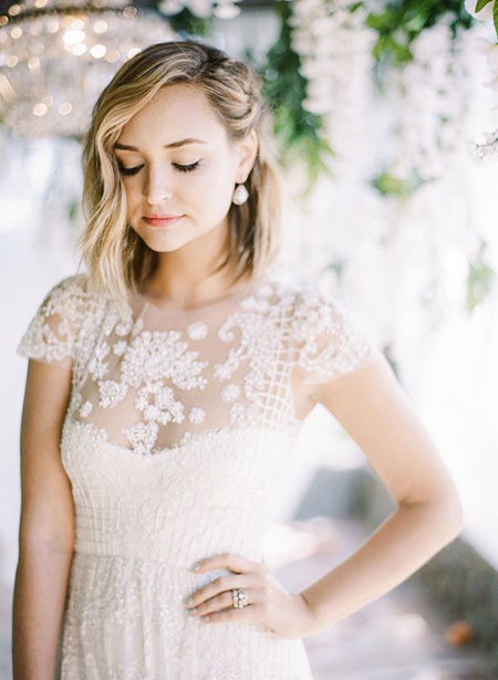 Classy Side Updo, Wedding Bridal Dresses Love