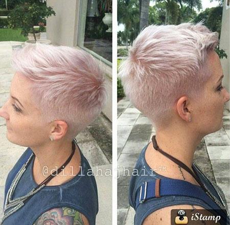 Boyish Haircut for Girls, Pixie Women Blonde Short