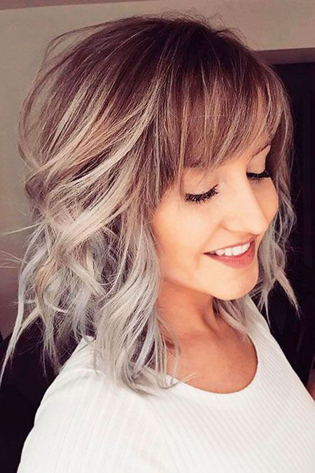 Hair Bob Bangs Blonde
