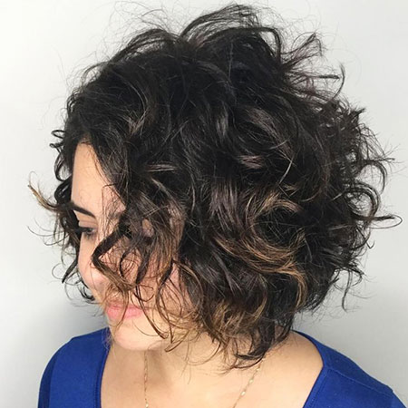 Curly Bob Naturally Brown