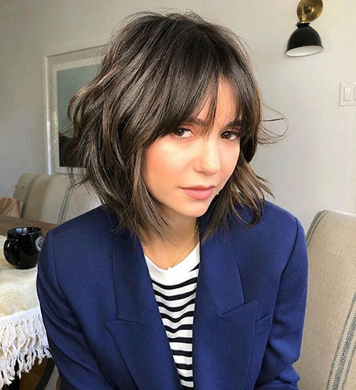 Short Layered Hair With Bangs
