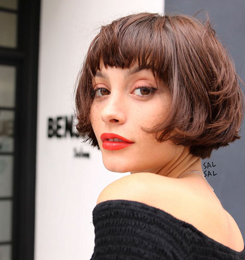 Short Layered Bob Hairstyles With Bangs