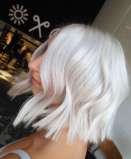 Short White Hair