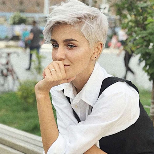 White Hair Short