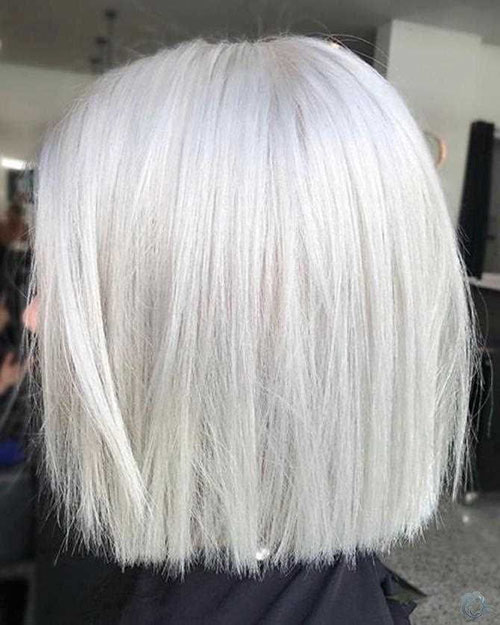 Short Hair Styles For White Hair