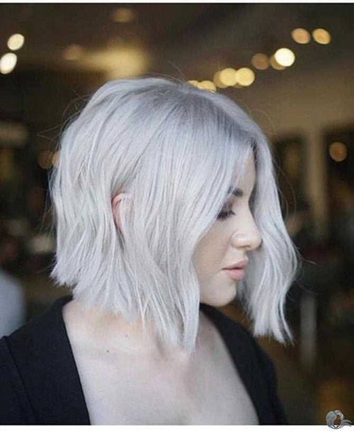 Short Haircuts For White Hair