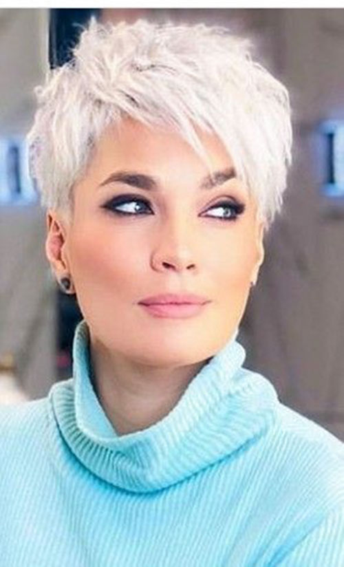25 Short White Hair That Reveals Your Pure Beauty Short Hairstyles Haircuts Ideas Short Haircut Co