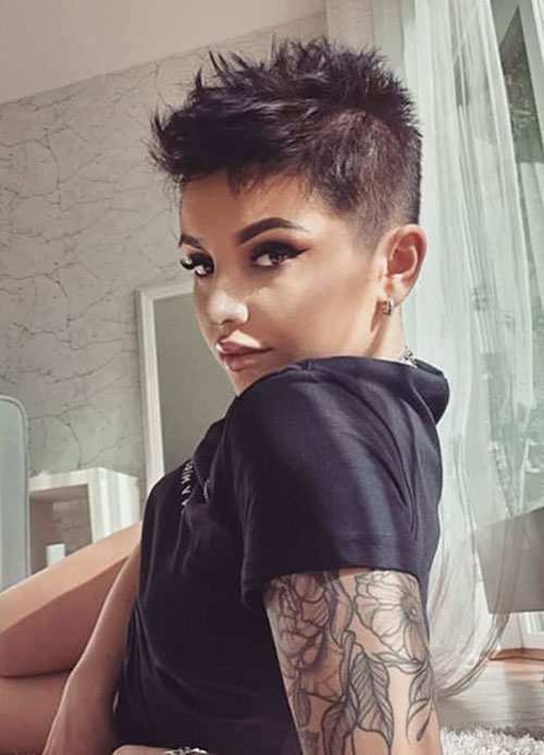 25 Most Unique Short Shaved Hair Trends Of 2020 Short Hairstyles Haircuts Ideas Short Haircut Co