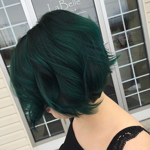 Short Green Haircut