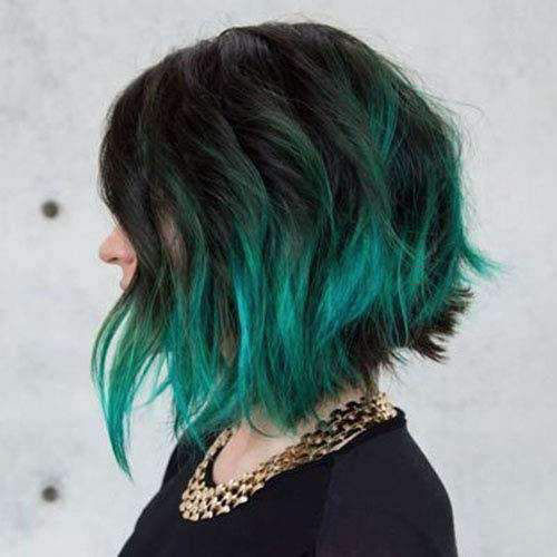 Green Short Hairstyle