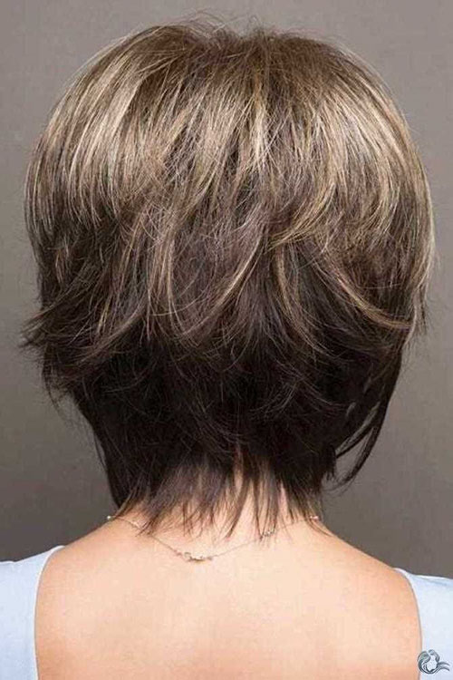 Layered Short Hairstyles For Round Faces 2020