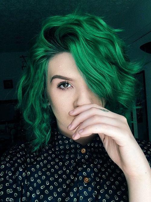 Short Green Hair
