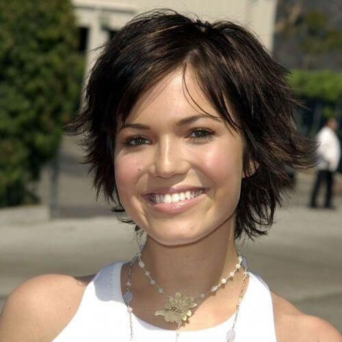 Short Hair With Layered For Round Faces