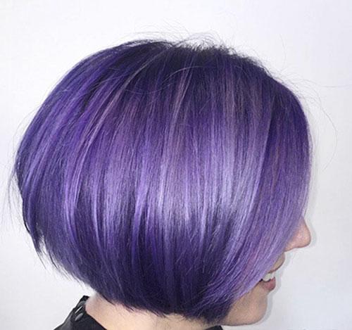 Short Purple Hair