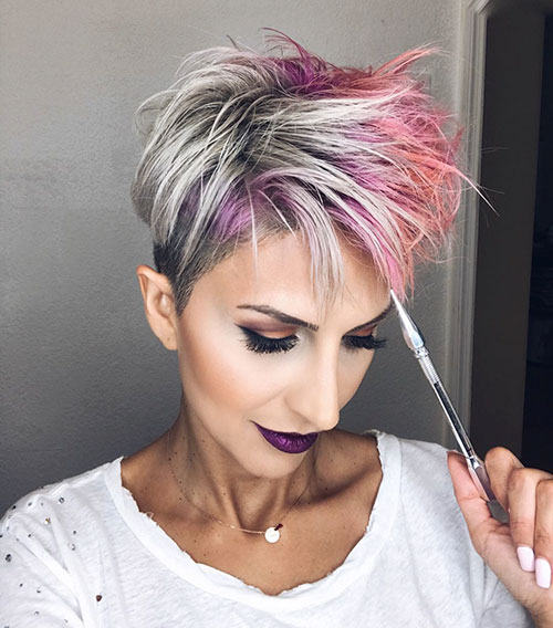 Messy Cut Short Hairstyles