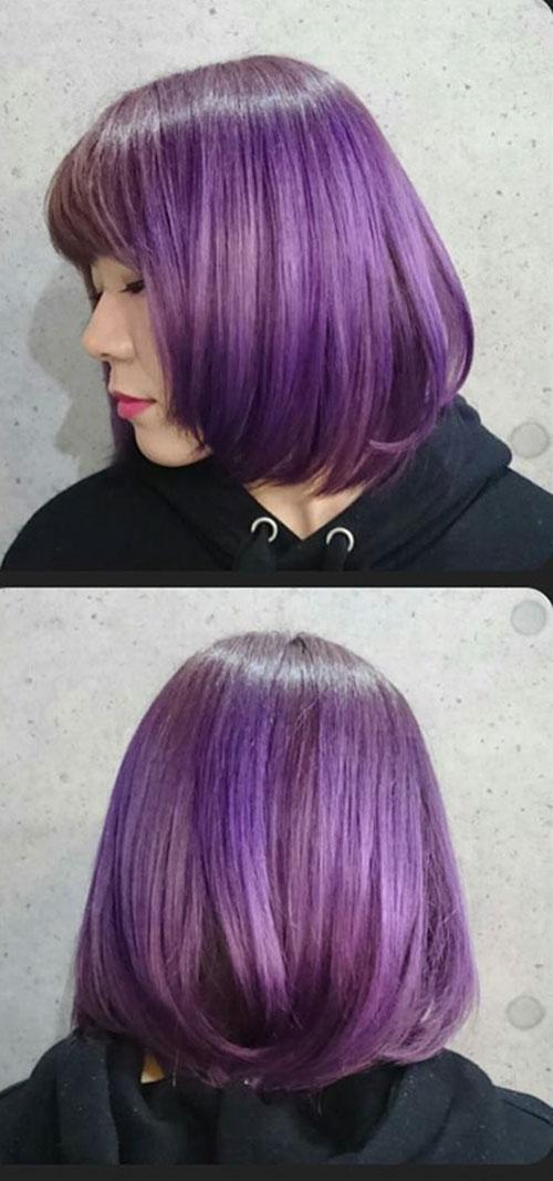 Purple Hair Color Short Hair