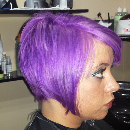 Purple Hairstyles For Short Hair
