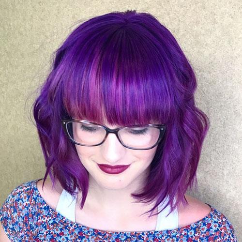 Purple Hair Short Hairstyles