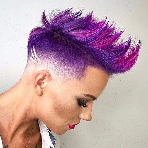 Purple Hair Short Hair