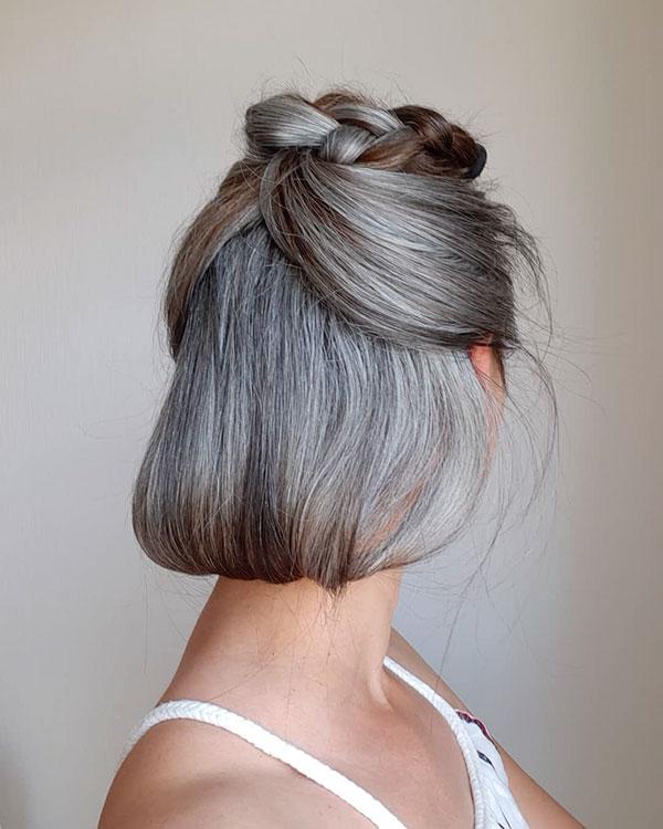 Short Hair For Grey Hair