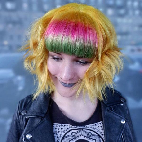 Yellow Short Hair